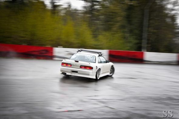 More V8 fun in the rain.