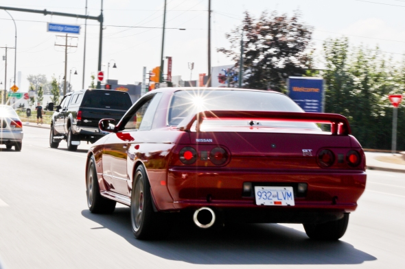 """The fine rear of """"Godzilla"""", this is the most common way that the R32 GTR is viewed by other road users."""